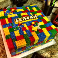 Lego Baby Shower Lego cake for a baby shower!