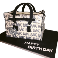 Michael Kors Purse Cake With Hand Painted Details Michael Kors purse cake with fondant and hand painted details