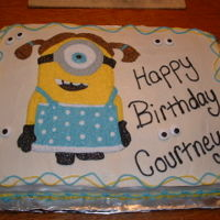 Minion   I made this cake for my little niece.