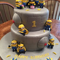 Minion Birthday Cake This is my grandson's first birthday cake.