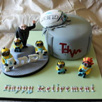 Minions Retirement Cake The cake is meant to be a natural gas storage tank would you believe !! (Never been asked to do one of those before !!!!!) The Gentleman...