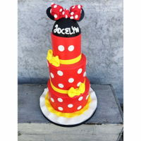 Minnie Mouse Tiered fondant cake