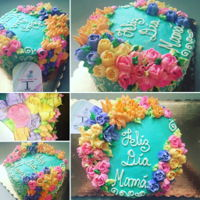 Mothers Day Cakes Differents flavorsButtercream flowers, roses, peonia, tulips