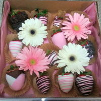 Mother's Day Goodies Chocolate Covered Straweberries, decided to go a different route then cake or cupcakes this year