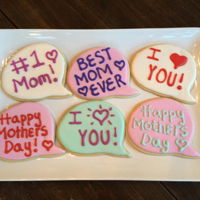 Mother's Day Speech Bubble Cookies Speech Bubble cookies I made for Mother's Day