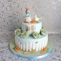 Peter Rabbit Baby Shower   Peter rabbit was made from gumpaste/fondant mix, all details are edible.