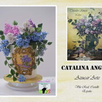 Primavera Con Arte- Lilacs( Theodor Aman)  This is a double barrel Cake I made for the annual Spanish collaboration of Spring.This year the theme was art and I choose as inspiration...
