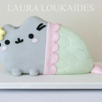 Pusheen Mermaid Cake Pusheen Mermaid Cake!By Laura Loukaides