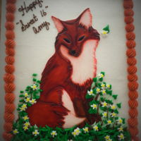 Red Fox   Painted fondant fox