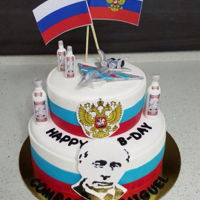 Russian Themed Cake A very Russian-y themed cake was asked of me to make for a very Russian patriotic friend. So this is what I came up with xD President...