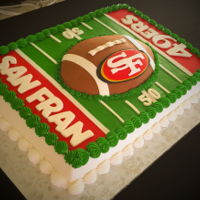 San Francisco 49Ers Grooms cake for a true 49ers fan