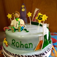 Science Themed Cake Italian cream cake with butter cream n fondant decorations.