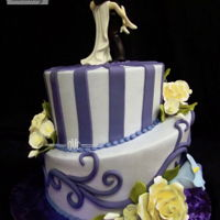 Shades Of Purple.   Buttercream Finish with fondant details and Gumpaste flowers. Thanks for looking!........................EDNA :)