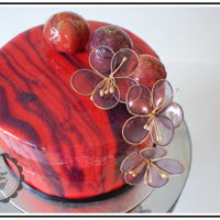 Shiny Mirror Glaze Cake I'm Happy to show all of you my latest creation…something new and very cool :)Shiny mirror glaze marble cake and...