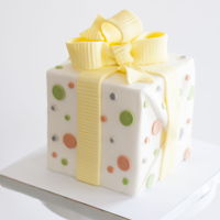 Simple Present Present Birthday Cake
