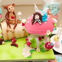 Spring Garden.. This was a cake table arranged for twin girl & boy..