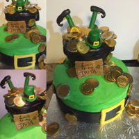 St.patricks Day Cake Made this for my son's cake walk auction at school