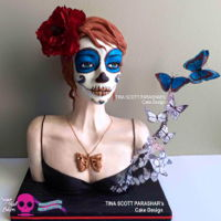 Sugar Skulls Collaboration 2015 - Bust Here is my contribution for the Sugar Skulls Collab. So proud to be a part of this amazing group of talented cake artists. For my piece I...