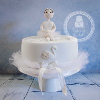 Swan Lake Ballet Cake Made for a young ballerina who recently played a part in a production of Swan Lake, this is a rich chocolate sponge, filled with chocolate...