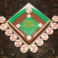 Tee Ball Party Cake WASC cake, buttercream, MMF