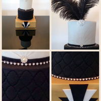 They Say A Little Party Never Hurt No Body!!! A Birthday Cake for my good friends Great Gatsby Birthday party!