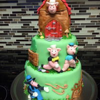 Three Little Pigs Three pigs cake for toddler who loves the cartoons