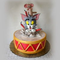 Tom & Jerry Cake Birthday cake
