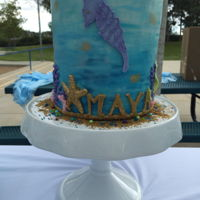 Under The Sea  I made these for a party rentals photo shoot and her daughters 2nd birthday. The Cake was double barrel handprinted with fondant accents....
