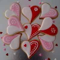 Valentine Cookies   Sugar cookies with colour flow icing