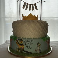 Where The Wild Things Are 2 tier Where the Wild Things Are themed cake, including fondant crown