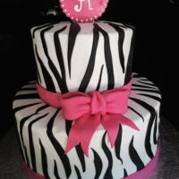 Zebra Baby Shower Simple baby shower cake, zebra stripes out of fondant.