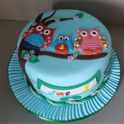 A Owl Cake For A Huddersfield Customer.