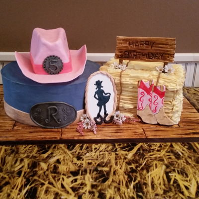 Cowgirl 5Th Birthday Cake