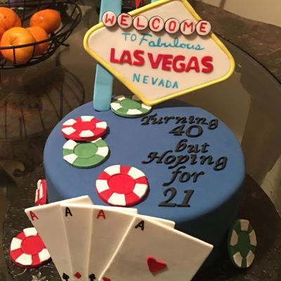 Las Vegas 40Th Birthday Cake