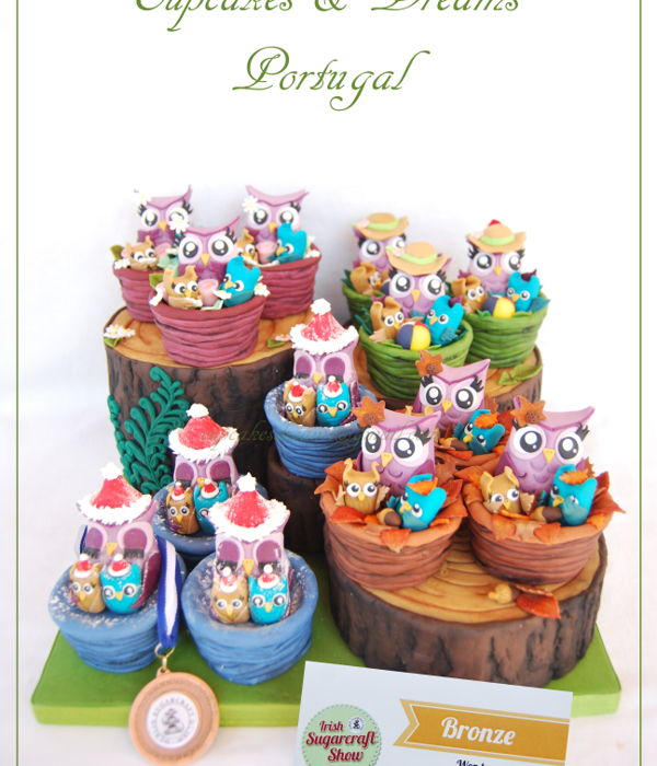 4 Seasons Owls - Irish Sugarcraft Show Competition 2016