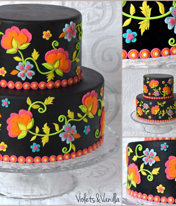 Embroidery Themed Cake