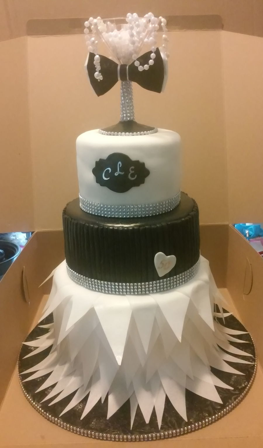 Two Tier Square Birthday Cake