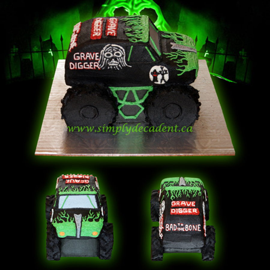 Enjoyable 3D Buttercream Grave Digger Monster Truck Birthday Cake All 100 Funny Birthday Cards Online Alyptdamsfinfo