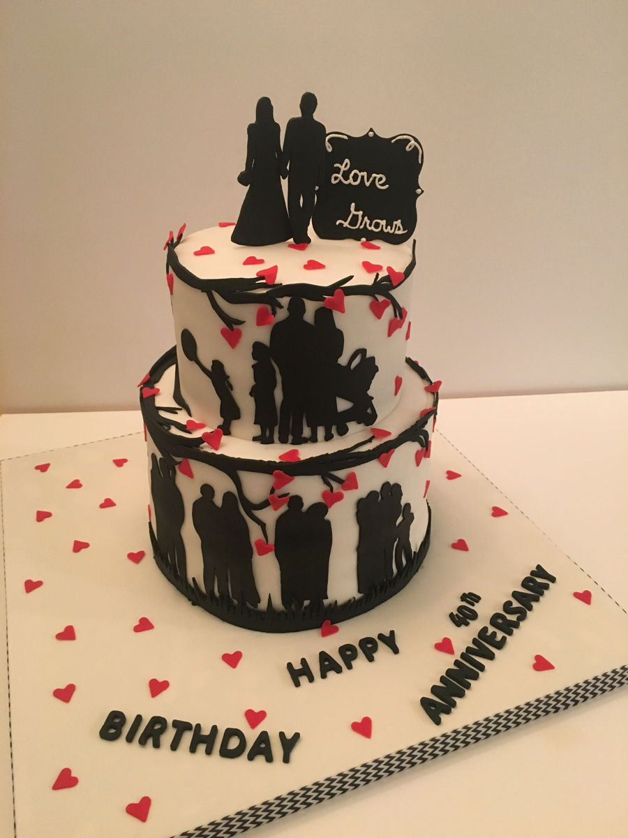 Couple Birthday Cake Pictures : Anniversary & Birthday Cake - CakeCentral.com