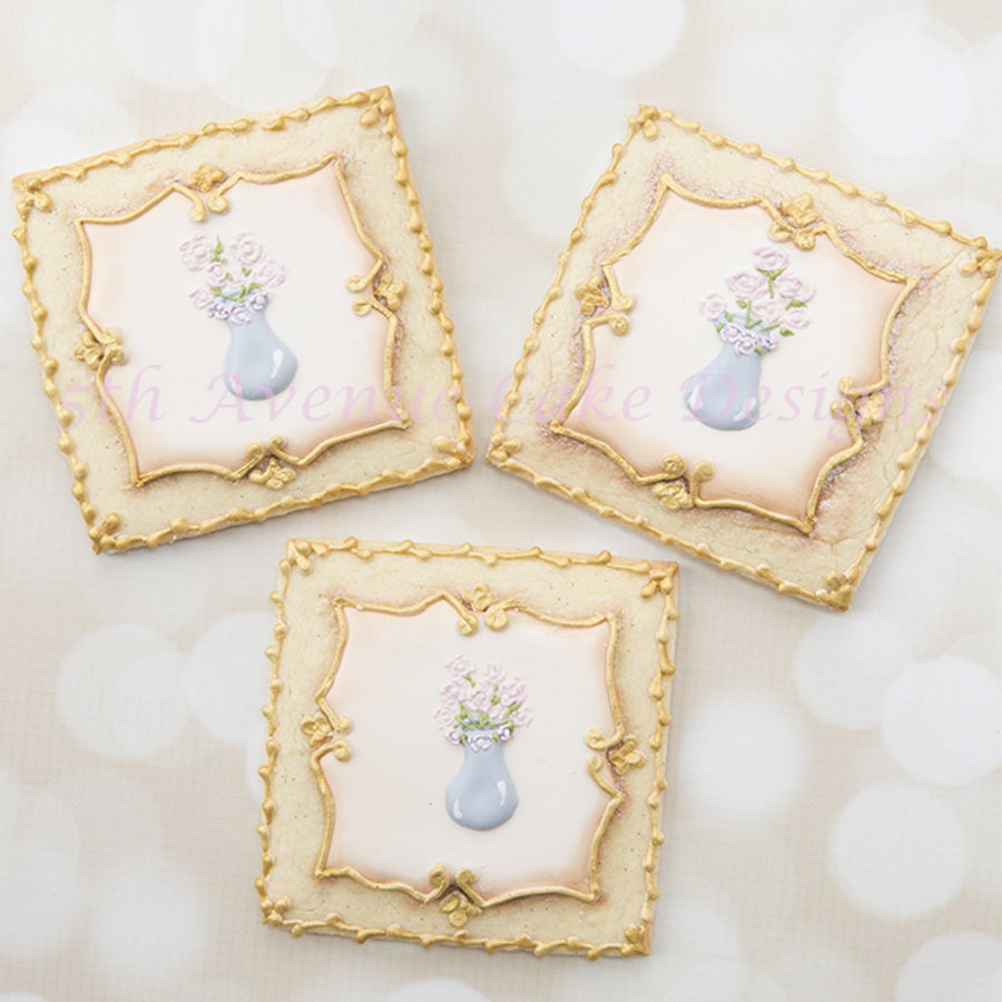 Antique Picture Frame Cookies on Cake Central