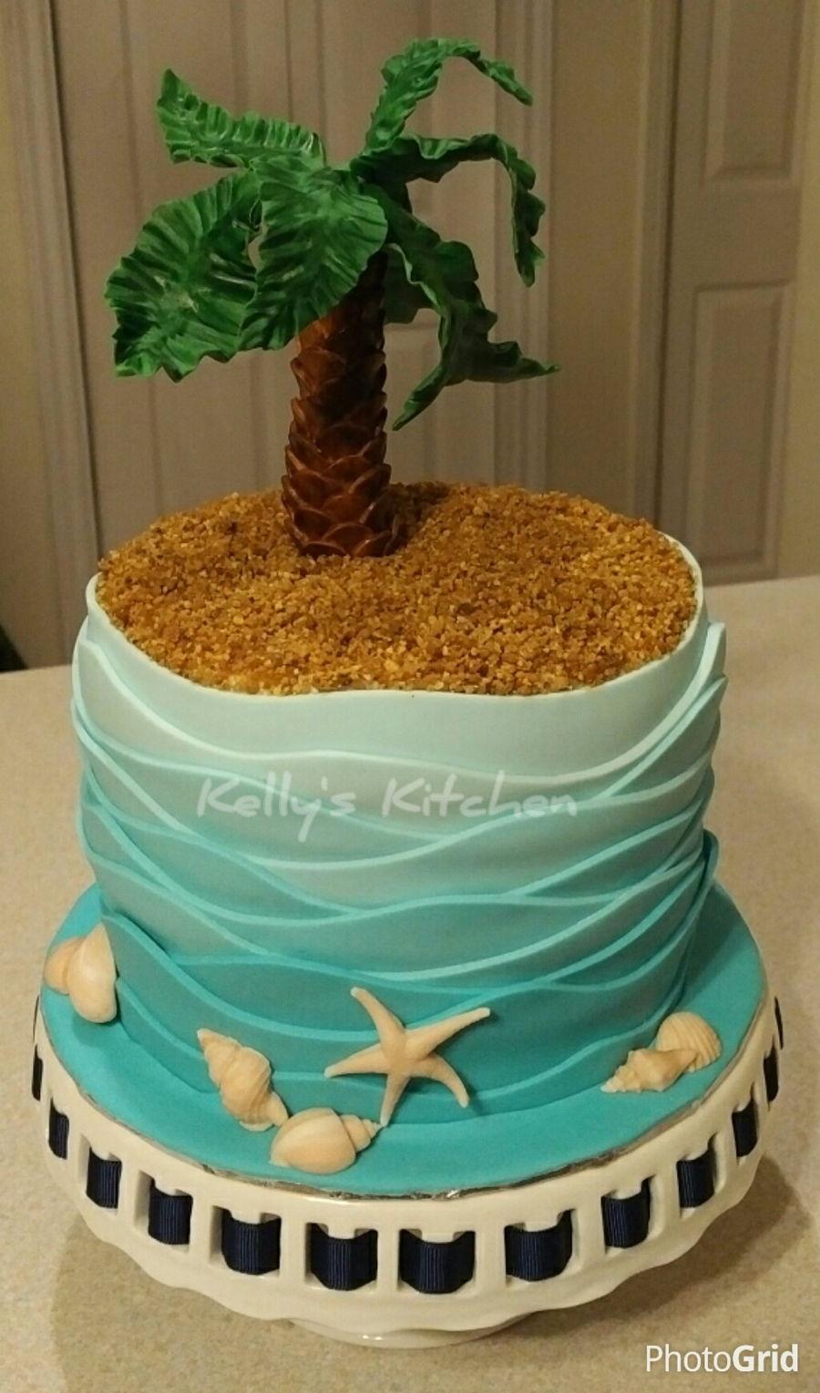 Beach Birthday Cake Cakecentral Com