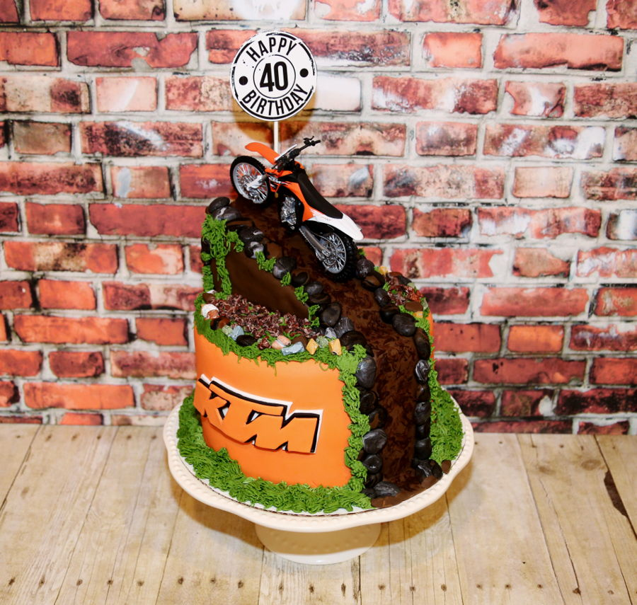 Ktm dirt bake birthday cake for Decoration ktm