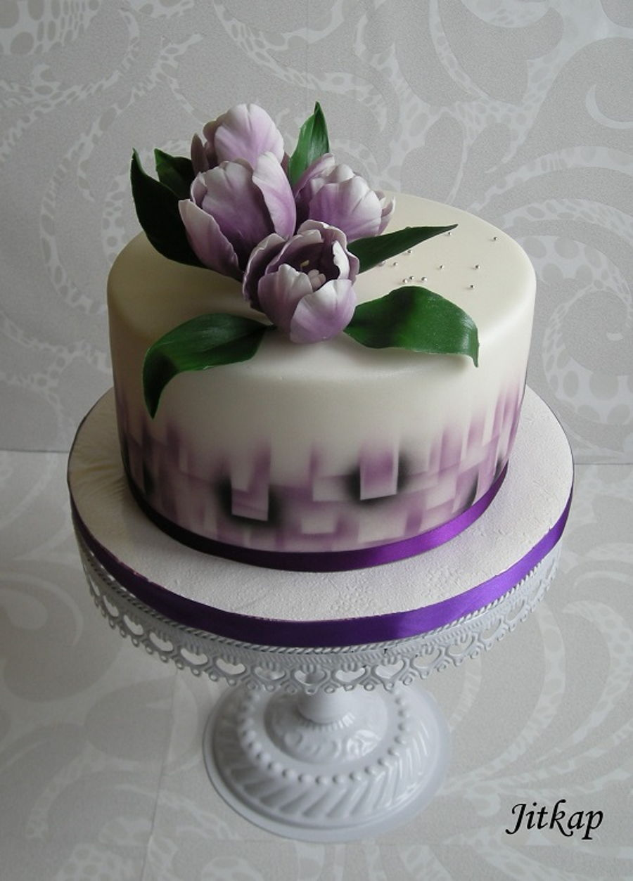 Birthday Cake With Tulips Cakecentral Com