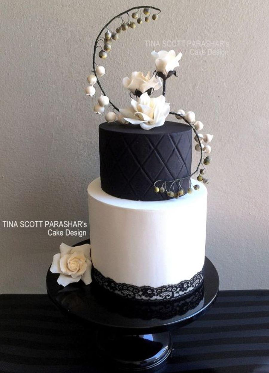 Bold Black And White Wedding Cake Cakecentral Com