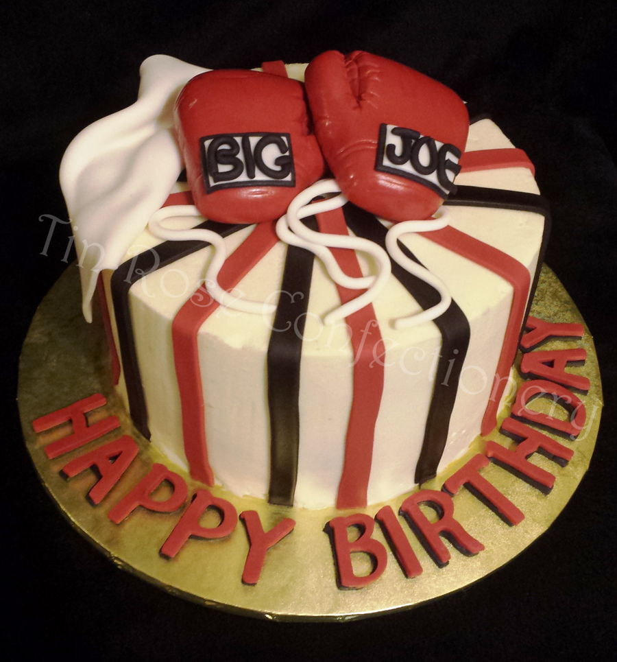 Boxing Glove Rum Soaked Cake Cakecentral