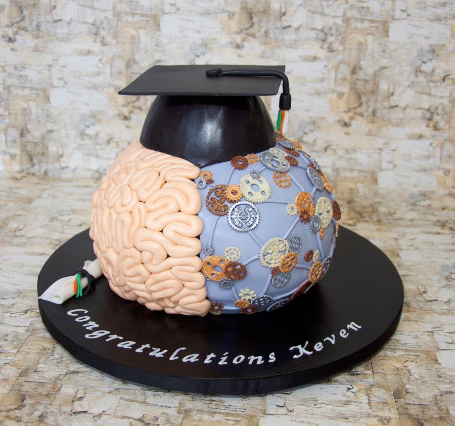 Graduation Cake Recipes Pictures : Brain Graduation Cake - CakeCentral.com