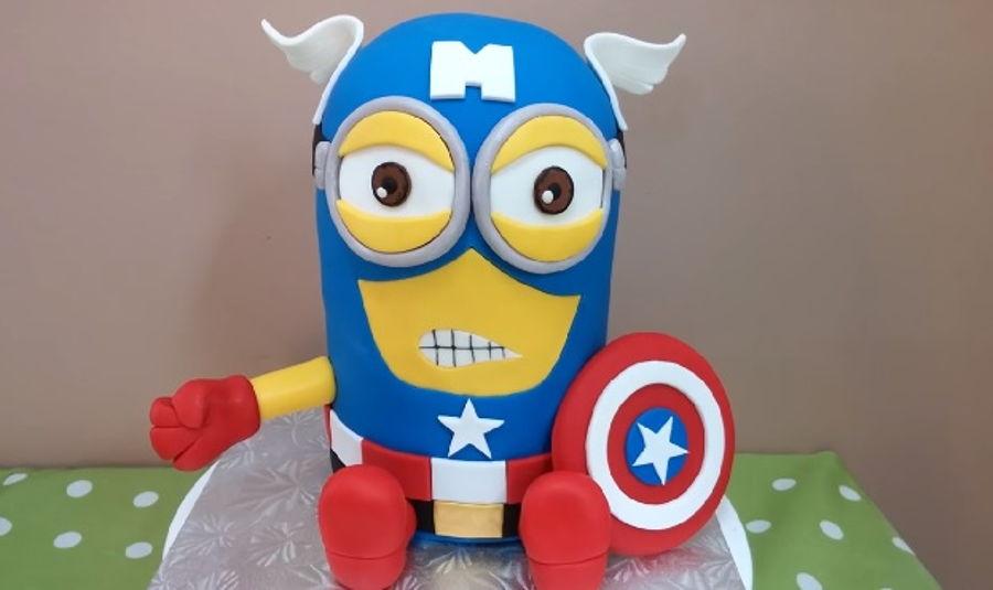 Captain America Minion Cake Tutorial CakeCentralcom
