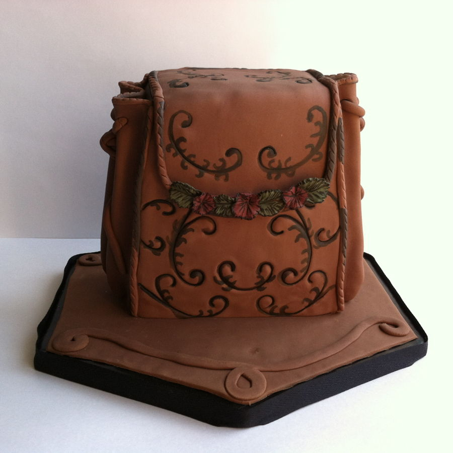 Chocolate Bag on Cake Central