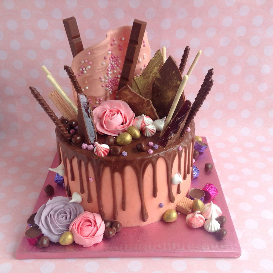 Chocolate Drippy Cake Cakecentral Com