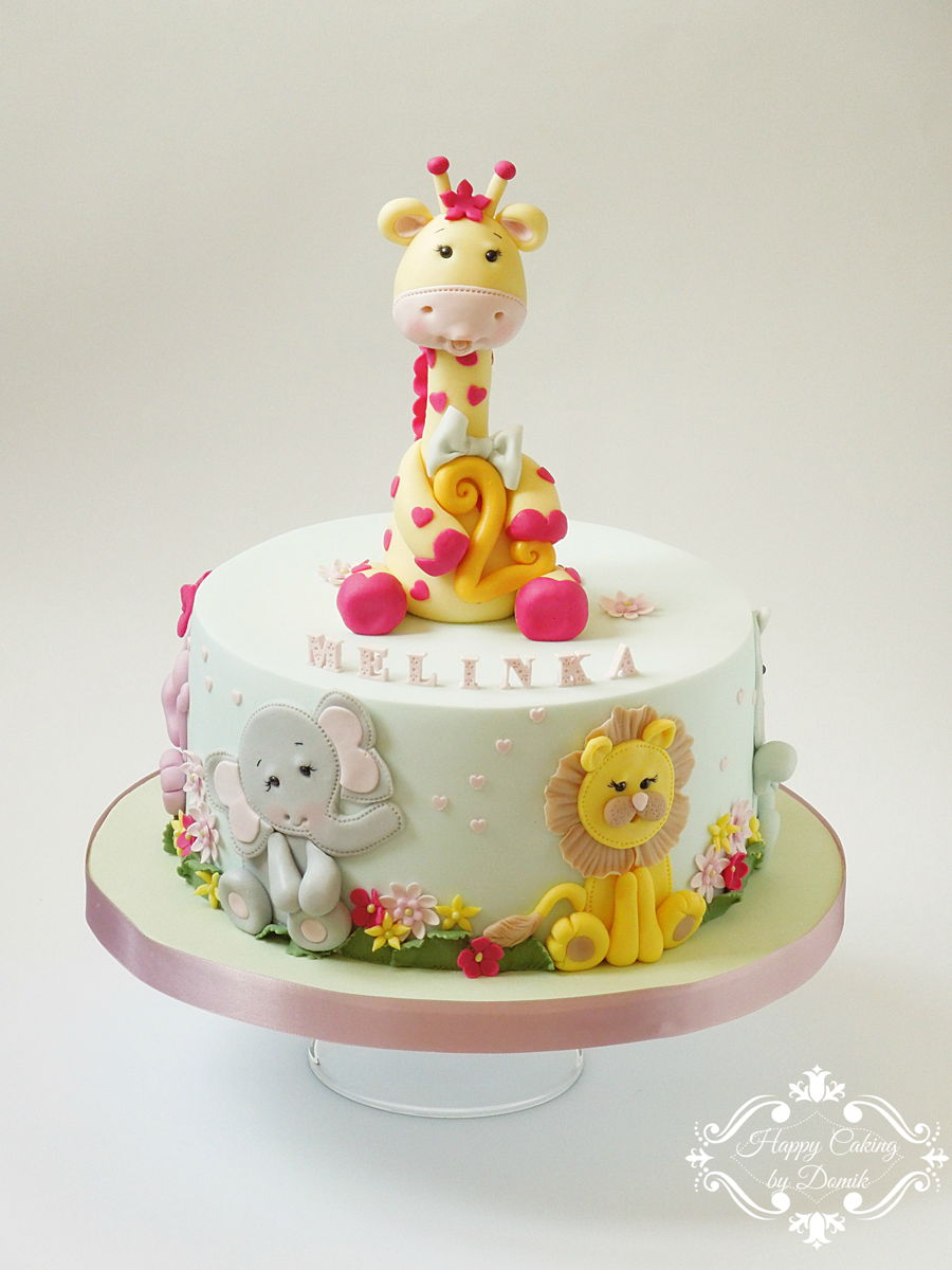 Baby Farm Animal Cake
